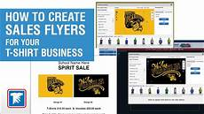 How To Make A Business Flyer Online For Free How To Create Sales Flyers For Your T Shirt Business Youtube