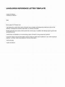 Letter Of Recommendation Landlord Landlord Reference Letter Template 5 Free Templates In