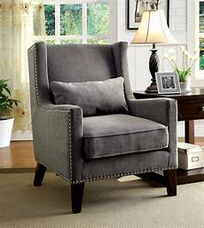 accent chair furniture of america relia high wingback accent chair