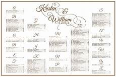 Table Seating Chart For Wedding Reception Template Wedding Seating Chart Table Seating Assignments Reception