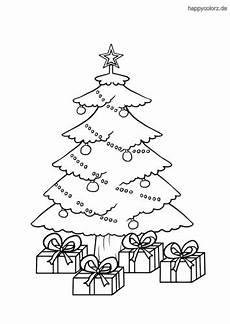 Ausmalbild Weihnachtsbaum Mit Geschenken Weihnachtsbaum Mit Geschenken Ausmalbild