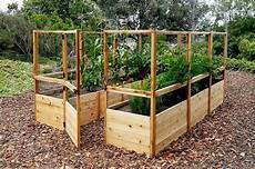 garden deer fence raised garden bed outdoor living today
