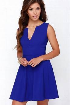 cobalt blue dress blue dress skater dress 62 00