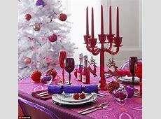 Transform your Christmas Day table with rich jewel shades