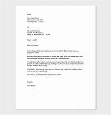 Tenant Letter Of Recommendation Reference Letter Template 50 For Word Amp Pdf Format
