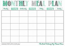 Week Month Planner Free Printable Monthly Meal Planner Template Monthly