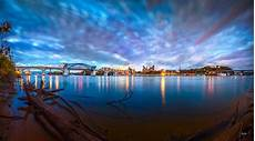 Chattanooga Lights On The River Chattanooga Riverfront At Dawn Photograph By Steven Llorca