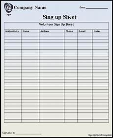Printable Sign Up Sheets Customizable Printable Sign Up Sheets Templates Right