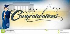 Congratulations Graduate Banner Congratulations Text Banner Stock Vector Illustration Of
