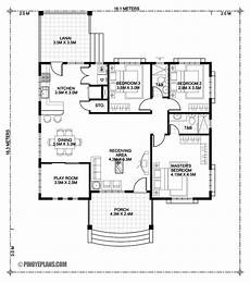 this three bedroom bungalow house design is 140 square
