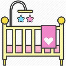 baby bassinet bed crib newborn toddler icon