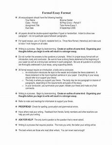 Essay Paragraph Format Free 9 Samples Of Formal Essays In Pdf Examples