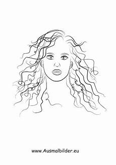 Malvorlagen Gesichter Pdf Ausmalbilder Frau Mit Langen Locken Gesichter Und