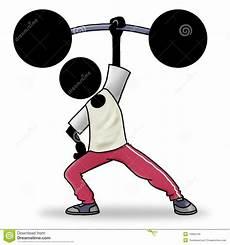 hommes faisant du sport de sportpictogram het beeldverhaal gewichtheffen