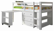 donco studying student low loft bed white