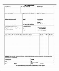 Proforma Invoice Sample Word Proforma Invoice 19 Free Word Excel Pdf Documents