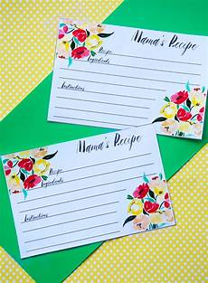 Recipes Cards Download These Free Printable Recipe Cards For Mother S Day