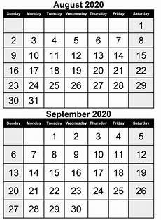 August 2020 Calendar With Holidays August 2020 Printable Calendar With Holidays Free