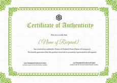Make A Certificate Of Authenticity Certificate Of Authenticity Design Template In Psd Word