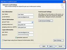 Setting Up Gmail Account In Outlook How To Setup Gmail With Outlook 2007 Gmail Configuration