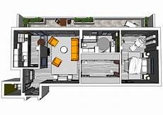 Bachelor Apartment Floor Plan Bachelor Apartment 3d Floor Plan Arquitetura