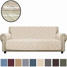 sofa cover waterproof with anti skip paw print quilted