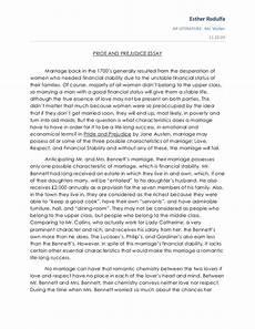 Pride Essay Pride And Prejudice Essay