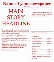 Newspaper Outline For Word Free 53 Amazing Newspaper Templates In Pdf Ppt Ms