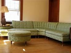 alluring vintage l shaped green floral pattern sofa idea
