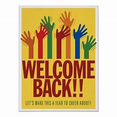 Welcome Back Poster Welcome Back Asl Poster Poster Zazzle Com
