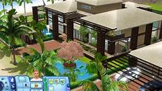 sims 3 tropical house with plans