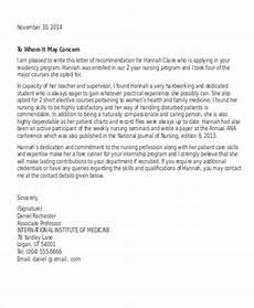 Sample Letter Of Recommendation For New Graduate Nurse 13 Sample Nursing Reference Letter Free Sample Example