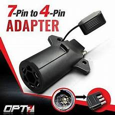 opt7 7 pin to 4 way adapter tow hitch flat blade trailer