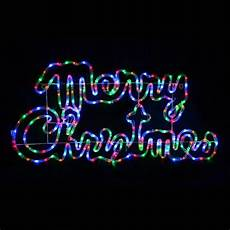 Rope Light Christmas Signs Multi Coloured Led Rope Light Merry Christmas Sign