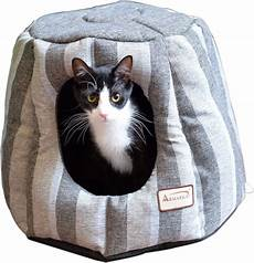 armarkat 17 in cave shape cat bed gray silver chewy