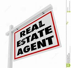 Real Estate Advertising Words Real Estate Agent Sign Advertising Agency Stock Photos