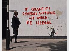 Funny Graffiti by Banksy   La Oddee