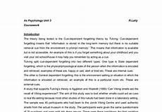 Cognitive Psychology A Level Psychology Marked By
