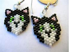 beadwork cat 76 best images about beading earrings animals on