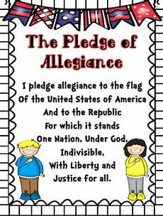 Another Word For Pledge Pledge Of Allegiance Poster Worksheet Pack By My First
