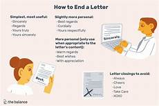 End Of Letter Closings How To End A Letter With Closing Examples