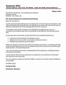 Human Resources Cover Letter Hr Assistant Cover Letter Sample