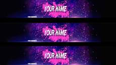 You Tube Banner Free Youtube Banner Template Psd Youtube
