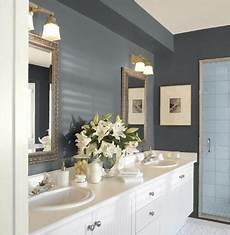 guest bathroom paint colors gunmetal walls cloud white