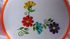 satin stitch flowers embroidery artesd olga