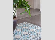 PVC vinyl mat Tiles Pattern Decorative linoleum rug Blue And Gray 104 ,FREE Shipping ? Vanill.co