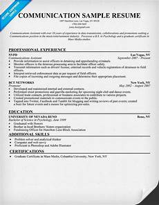 Strong Communication Skills Resume Examples Communication Resume Sample Resumecompanion Com