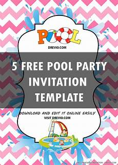 Free Online Party Invitations Templates Free Printable Pool Party Invitation Templates Drevio