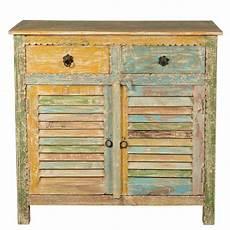 attica shutter door rustic reclaimed wood 2 drawer storage