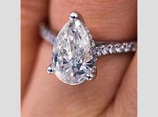 Elegant Certified 2.00 Carat Pear Cut Diamond Engagement
